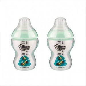 Tommee Tippee Decorated Bottle Green 9oz/260ml x 2pcs