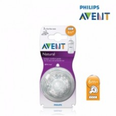 Philips Avent Natural Teat 6month/fastflow/ 4holes